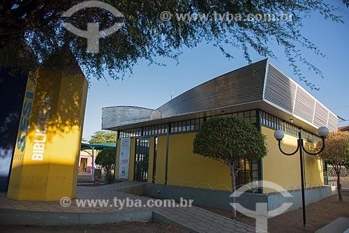 Fachada da Biblioteca do SESI (Serviço Social da Indústria) na cidade de Monteiro  - Monteiro - Paraíba (PB) - Brasil