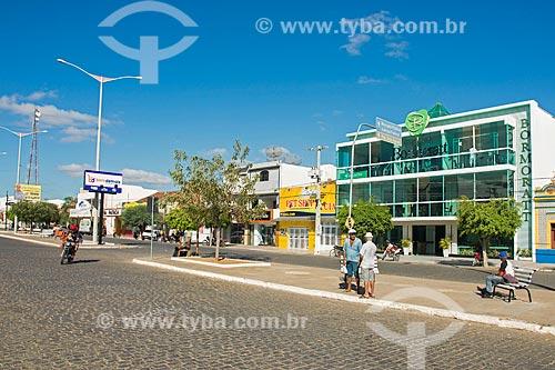 Fachada do Shopping Bormoratt na Rua Coronel João Santa Cruz  - Monteiro - Paraíba (PB) - Brasil