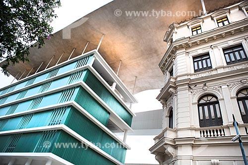 Detalhe da fachada do Museu de Arte do Rio (MAR)  - Rio de Janeiro - Rio de Janeiro (RJ) - Brasil