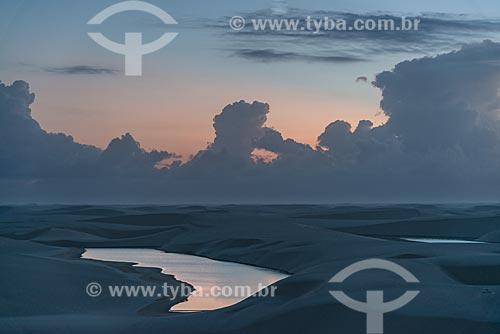 Lagoa Bonita - Parque Nacional dos Lençóis Maranhenses  - Barreirinhas - Maranhão (MA) - Brasil