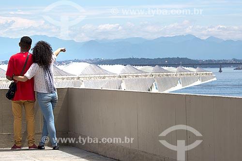Vista do Museu do Amanhã a partir do mirante do Mosteiro de São Bento  - Rio de Janeiro - Rio de Janeiro (RJ) - Brasil