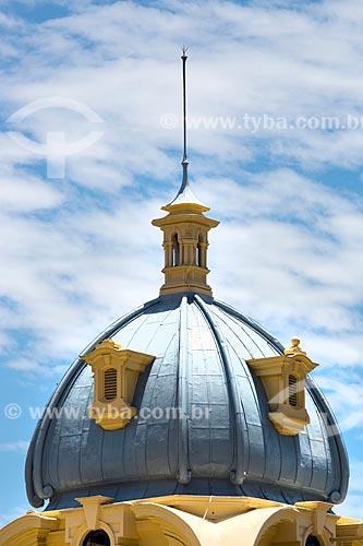 Detalhe de cúpula de prédio na Praça XV de Novembro  - Rio de Janeiro - Rio de Janeiro (RJ) - Brasil
