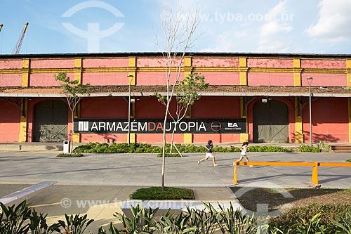 Fachada do Armazém da Utopia (Armazém 6 do Cais da Gamboa) no Porto do Rio de Janeiro  - Rio de Janeiro - Rio de Janeiro (RJ) - Brasil