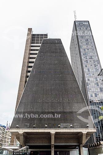 Fachada do Edifício Sede da Federação das Indústrias do Estado de São Paulo (FIESP) na Avenida Paulista  - São Paulo - São Paulo (SP) - Brasil