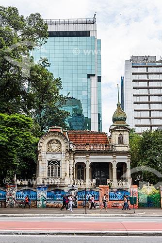 Fachada do Palacete Franco de Mello (1905) na Avenida Paulista  - São Paulo - São Paulo (SP) - Brasil