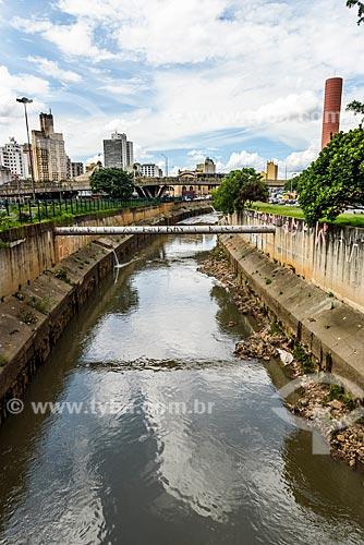 Vista do Rio Tamanduateí  - São Paulo - São Paulo (SP) - Brasil
