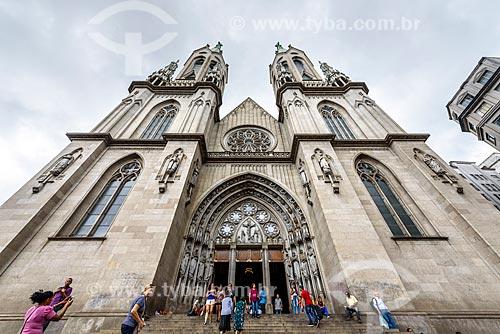 Fachada da Catedral da Sé (Catedral Metropolitana Nossa Senhora da Assunção) - 1954  - São Paulo - São Paulo (SP) - Brasil
