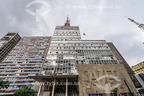 Fachada do prédio da Gazeta na Avenida Paulista - sede da Fundação Cásper Líbero  - São Paulo - São Paulo (SP) - Brasil