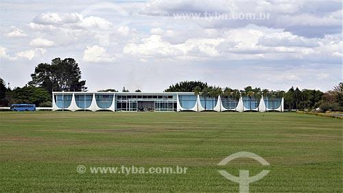 Vista geral do Palácio da Alvorada - residência oficial do Presidente do Brasil  - Brasília - Distrito Federal (DF) - Brasil
