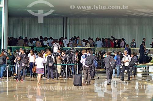Imprensa no Palácio da Alvorada após a aprovação do impeachment da Presidente Dilma Rousseff no Senado Federal  - Brasília - Distrito Federal (DF) - Brasil
