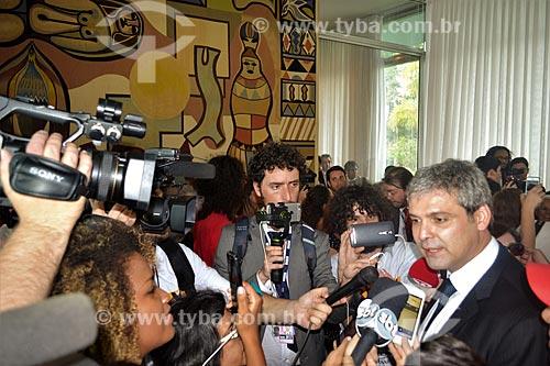Entrevista com o Senador Lindberg Farias após a aprovação do impeachment da Presidente Dilma Rousseff no Senado Federal  - Brasília - Distrito Federal (DF) - Brasil