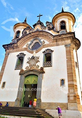 Fachada do Santuário de Nossa Senhora do Carmo (1835)  - Mariana - Minas Gerais (MG) - Brasil