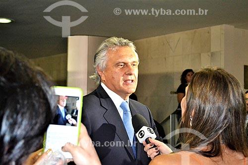 Entrevista com o Senador Ronaldo Caiado durante a sessão de julgamento do impeachment da Presidente Dilma Rousseff no Senado Federal  - Brasília - Distrito Federal (DF) - Brasil