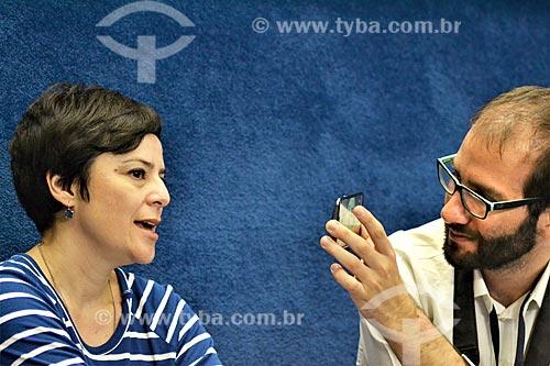Cantora Fernanda Takai acompanhando a sessão de julgamento do impeachment da Presidente Dilma Rousseff no Senado Federal  - Brasília - Distrito Federal (DF) - Brasil
