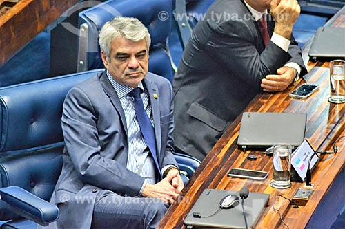 Senador Humberto Costa durante a sessão de julgamento do impeachment da Presidente Dilma Rousseff no Senado Federal  - Brasília - Distrito Federal (DF) - Brasil