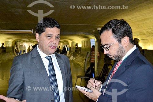 Entrevista com o Senador Ricardo Ferraço durante a sessão de julgamento do impeachment da Presidente Dilma Rousseff no Senado Federal  - Brasília - Distrito Federal (DF) - Brasil