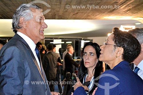 Entrevista com o Senador Ronaldo Caiado para a jornalista Zileide Silva durante a sessão de julgamento do impeachment da Presidente Dilma Rousseff no Senado Federal  - Brasília - Distrito Federal (DF) - Brasil