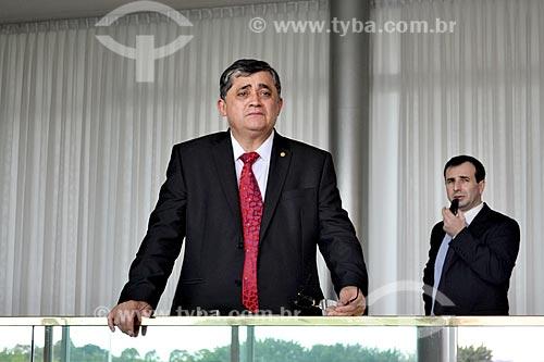 Deputado José Guimarães no Palácio da Alvorada após a aprovação do impeachment da Presidente Dilma Rousseff no Senado Federal  - Brasília - Distrito Federal (DF) - Brasil