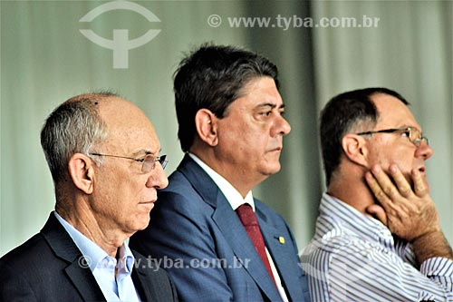 Rui Falcão, Wadih Damous e convidados no Palácio da Alvorada após a aprovação do impeachment da Presidente Dilma Rousseff no Senado Federal  - Brasília - Distrito Federal (DF) - Brasil