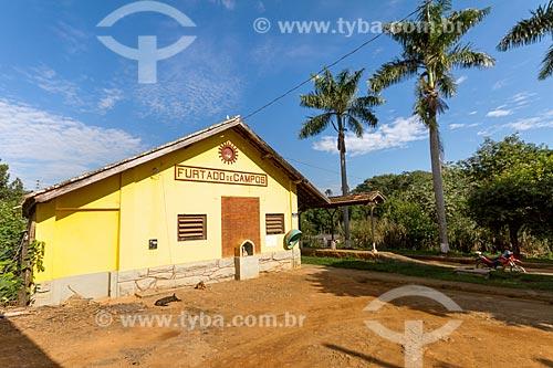 Fachada da Estação Ferroviária de Furtado de Campos (1883)  - Rio Novo - Minas Gerais (MG) - Brasil