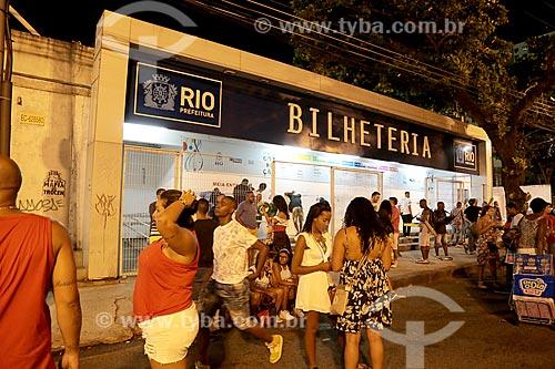 Bilheteria do Terreirão do Samba durante o carnaval  - Rio de Janeiro - Rio de Janeiro (RJ) - Brasil