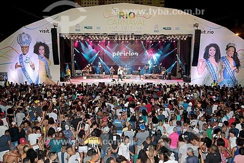 Show do cantor Péricles no Terreirão do Samba durante o carnaval  - Rio de Janeiro - Rio de Janeiro (RJ) - Brasil