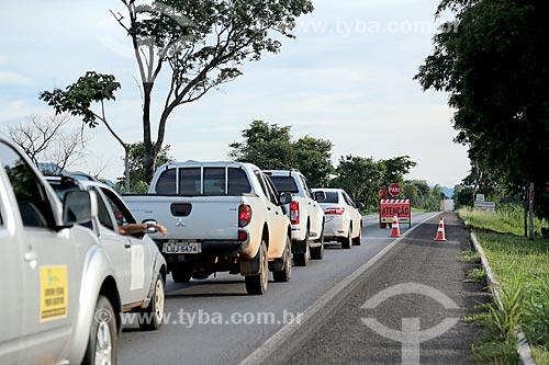 Trecho interditado da Rodovia BR-070  - Cáceres - Mato Grosso (MT) - Brasil