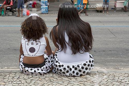 Foliãs durante o desfile do bloco de carnaval de rua Cordão do Bola Preta  - Rio de Janeiro - Rio de Janeiro (RJ) - Brasil