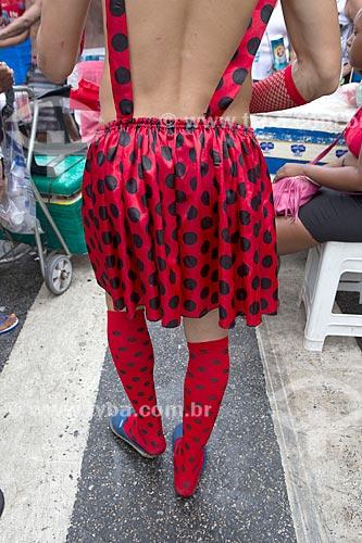 Detalhe de folião durante o desfile do bloco de carnaval de rua Cordão do Bola Preta  - Rio de Janeiro - Rio de Janeiro (RJ) - Brasil