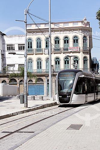 Veículo leve sobre trilhos na Praça Tiradentes  - Rio de Janeiro - Rio de Janeiro (RJ) - Brasil