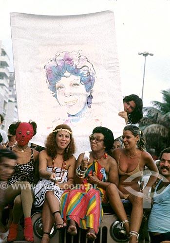 Cantoras Beth Carvalho e Elizeth Cardoso durante o carnaval - anos 80  - Rio de Janeiro - Rio de Janeiro (RJ) - Brasil