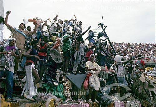 Desfile do Grêmio Recreativo Escola de Samba Beija-Flor - Carro alegórico - Enredo 1989 - Ratos e urubus, larguem minha fantasia  - Rio de Janeiro - Rio de Janeiro (RJ) - Brasil