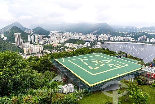 Heliponto no Morro da Urca com a Enseada de Botafogo ao fundo  - Rio de Janeiro - Rio de Janeiro (RJ) - Brasil