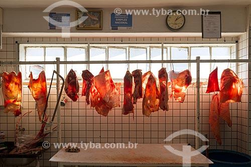 Carne de porco à venda no Mercado Municipal de Pouso Alegre  - Pouso Alegre - Minas Gerais (MG) - Brasil