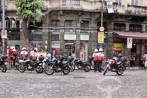 Policiamento com motocicletas da Operação Centro Presente na Praça da Cruz Vermelha  - Rio de Janeiro - Rio de Janeiro (RJ) - Brasil