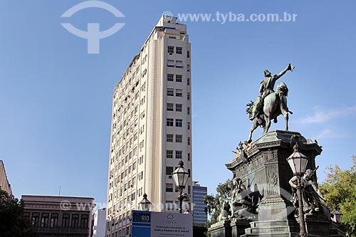 Estátua equestre de Dom Pedro I (1862) na Praça Tiradentes  - Rio de Janeiro - Rio de Janeiro (RJ) - Brasil