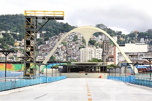 Vista geral do Sambódromo da Marquês de Sapucaí (1984)  - Rio de Janeiro - Rio de Janeiro (RJ) - Brasil