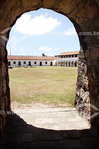 Vista do pátio do Forte de Santa Catarina do Cabedelo (1585) - também conhecida como Fortaleza de Santa Catarina  - Cabedelo - Paraíba (PB) - Brasil