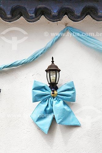 Detalhe de luminária decorada para a Festa de Nossa Senhora da Graça  - São Francisco do Sul - Santa Catarina (SC) - Brasil