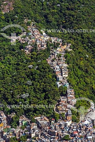 Vista da Favela da Rocinha a partir da trilha do Morro Dois Irmãos  - Rio de Janeiro - Rio de Janeiro (RJ) - Brasil