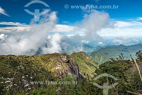 Vista geral do Parque Estadual dos Três Picos a partir do Pico da Caledônia  - Nova Friburgo - Rio de Janeiro (RJ) - Brasil