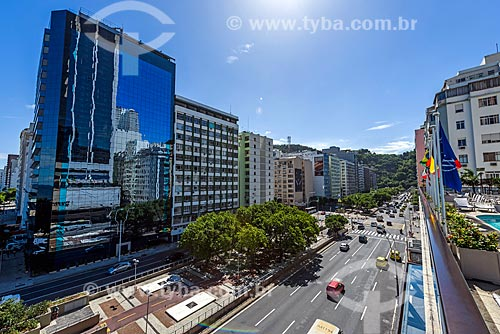 Vista da Avenida Princesa Isabel a partir do antigo Hotel Le Meridien - atual Hotel Windsor Atlântica  - Rio de Janeiro - Rio de Janeiro (RJ) - Brasil