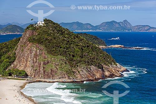 Vista da Forte Duque de Caxias - também conhecido como Forte do Leme - na Área de Proteção Ambiental do Morro do Leme  - Rio de Janeiro - Rio de Janeiro (RJ) - Brasil
