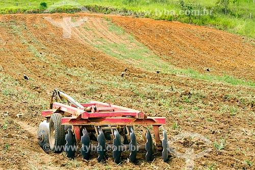 Detalhe de arado na zona rural da cidade de Guarani  - Guarani - Minas Gerais (MG) - Brasil