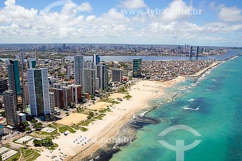 Foto aérea da Praia da Boa Viagem  - Recife - Pernambuco (PE) - Brasil