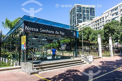Acesso à Estação Nossa Senhora da Paz do Metrô Rio na Praça Nossa Senhora da Paz  - Rio de Janeiro - Rio de Janeiro (RJ) - Brasil