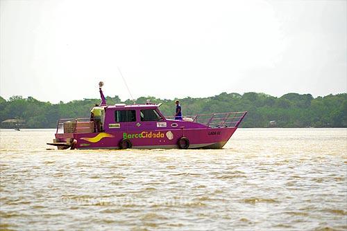 Barco Cidadão na Baía de Guajará  - Belém - Pará (PA) - Brasil