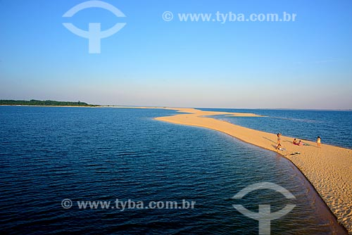 Praia fluvial no Rio Arapiuns no período de estiagem  - Santarém - Pará (PA) - Brasil