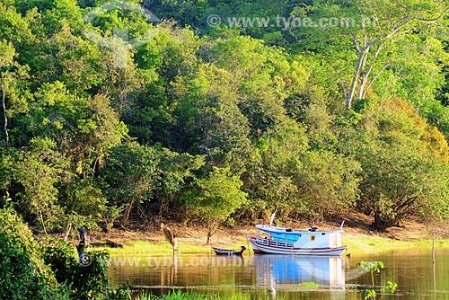 Embarcações no Rio Arapiuns  - Santarém - Pará (PA) - Brasil