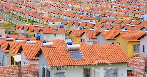 Casas do Programa Minha Casa Minha Vida com painel solar fotovoltaico   - Santarém - Pará (PA) - Brasil